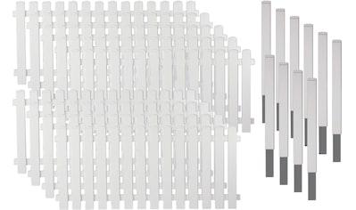 T&J Gartenzaun »Lexington 7«, Kunststoff, 80 cm hoch, 9 Elemente für 17,10 Meter Zaun,... kaufen