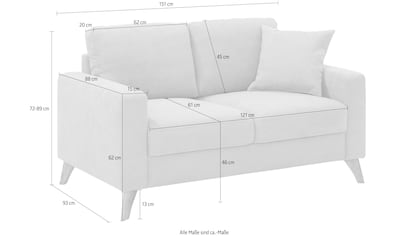 Home affaire 2-Sitzer »Stanza Luxus«, hohe Belastbarkeit pro Sitzplatz: 140kg, 1... kaufen