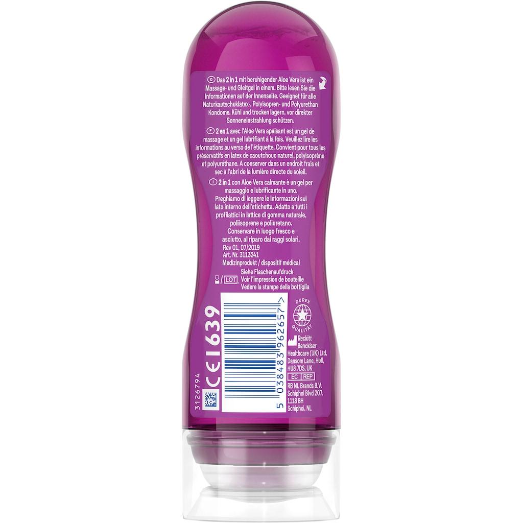durex Gleit- und Massagegel »2in1 Aloe Vera«, mit pflegenden Aloeveraextrakten