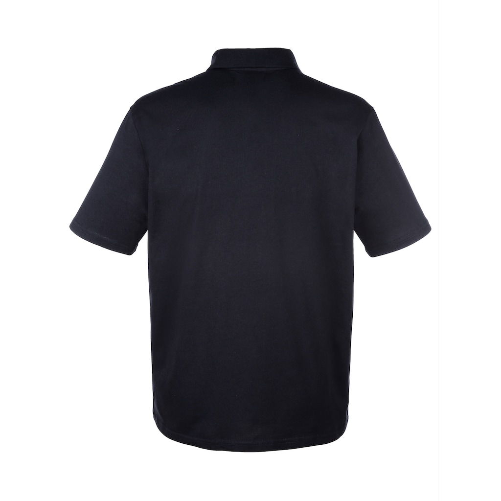 Roger Kent Poloshirt mit Kontrastverarbeitung