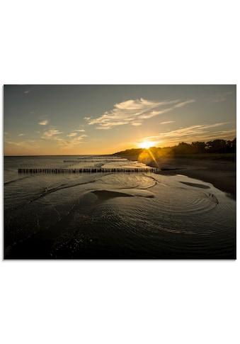 Artland Glasbild »Früh morgens auf dem Darß«, Sonnenaufgang & -untergang, (1 St.) kaufen