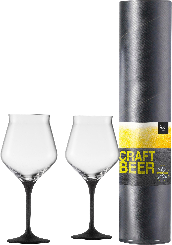 Eisch Bierglas Craft Beer Kelch, (Set, 2 tlg.), bleifreies Kristallglas, 435 ml farblos Kristallgläser Gläser Glaswaren Haushaltswaren