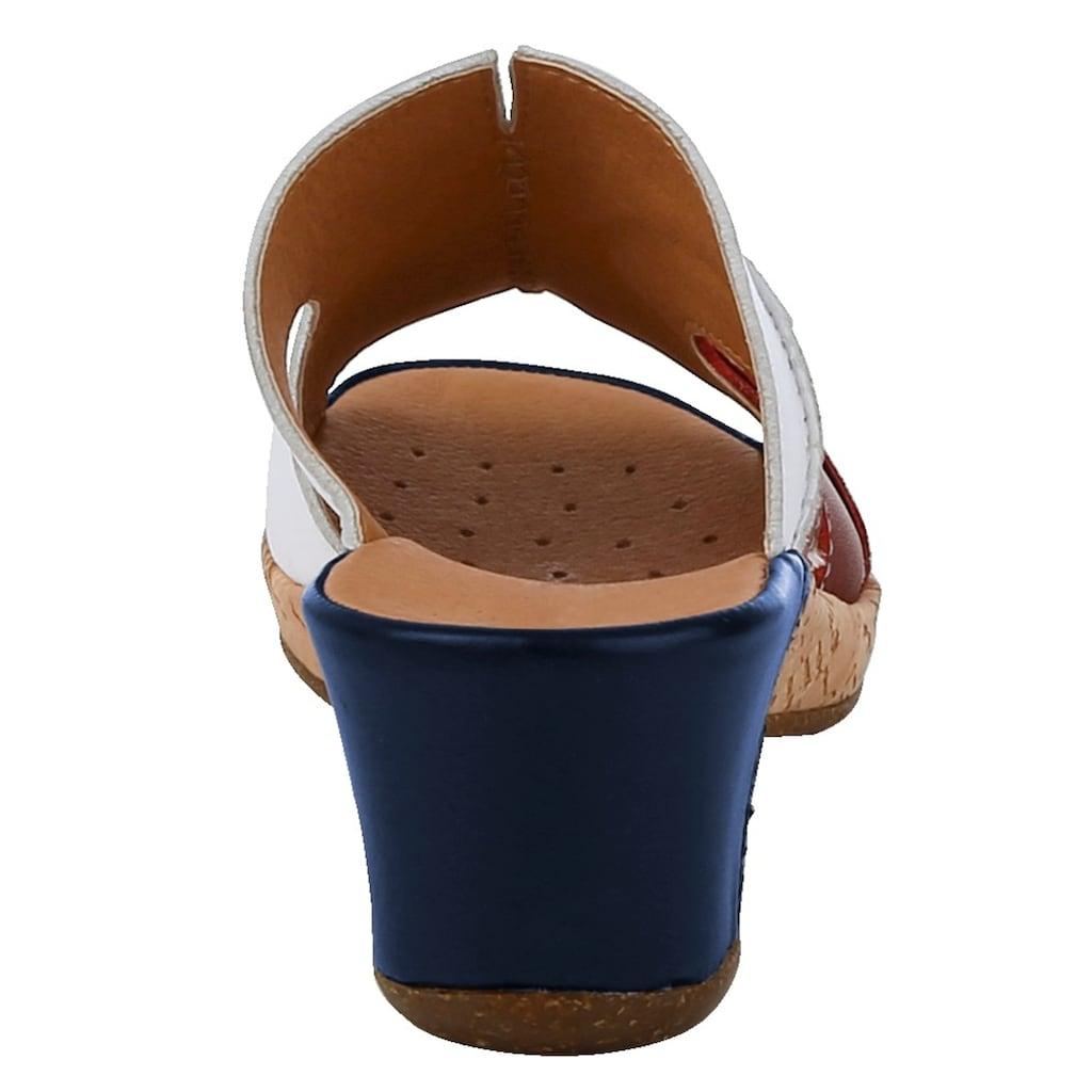 Naturläufer Pantolette in Kork-Optik