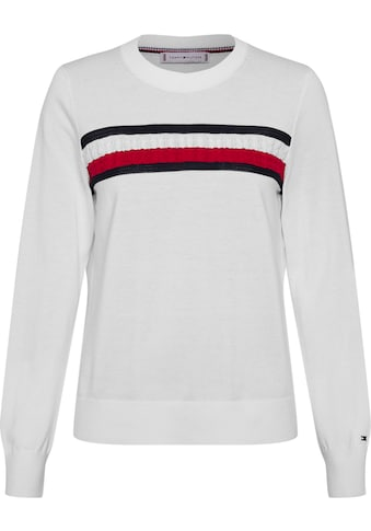 TOMMY HILFIGER Rundhalspullover »GLOBAL STRIPE C - NK SWEATER LS« kaufen