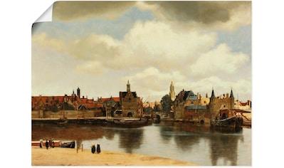 Artland Wandbild »Ansicht der Stadt Delft. Um 1660« kaufen