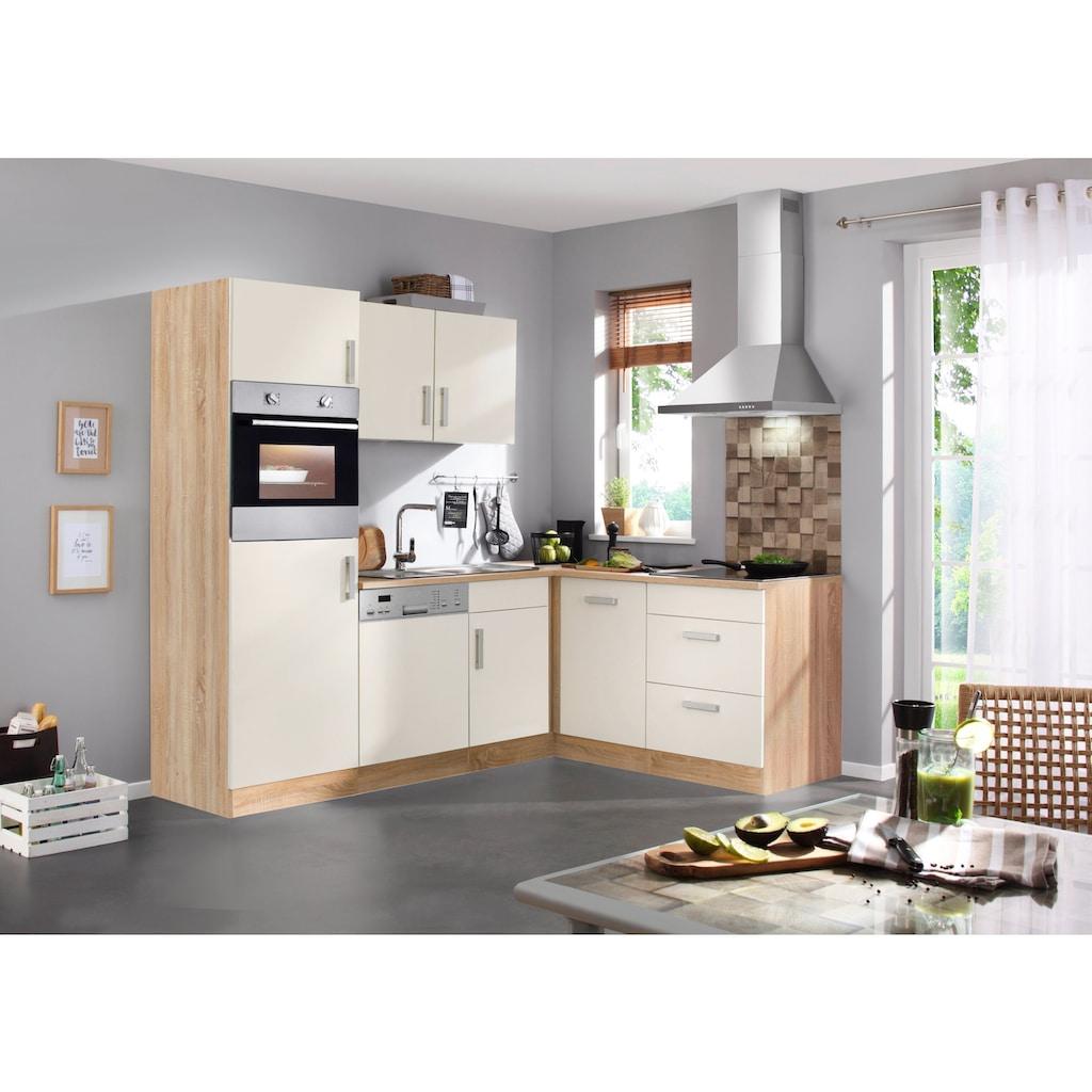 HELD MÖBEL Winkelküche »Toronto«, mit E-Geräten, 230 x 170 cm