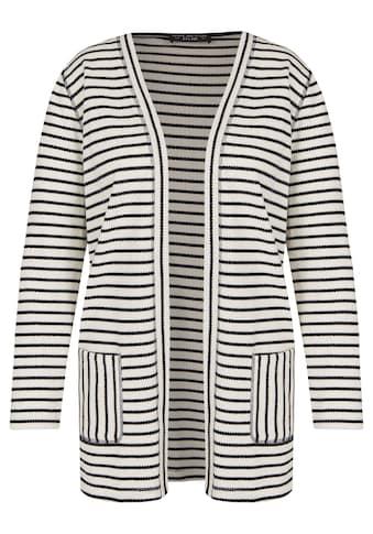 VIA APPIA DUE Angesagte Strick - Jacke mit Streifen - Mix kaufen