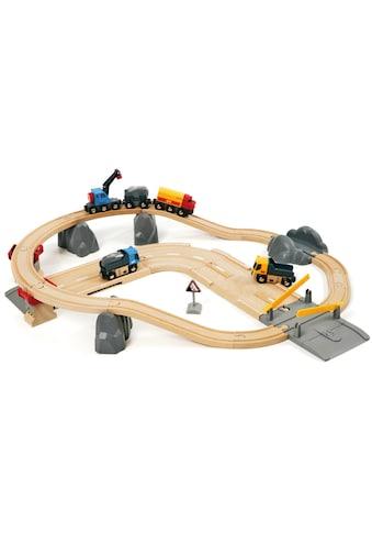 BRIO® Spielzeug-Eisenbahn »BRIO® WORLD Straßen & Schienen Steinverlade Set«, FSC®-Holz... kaufen