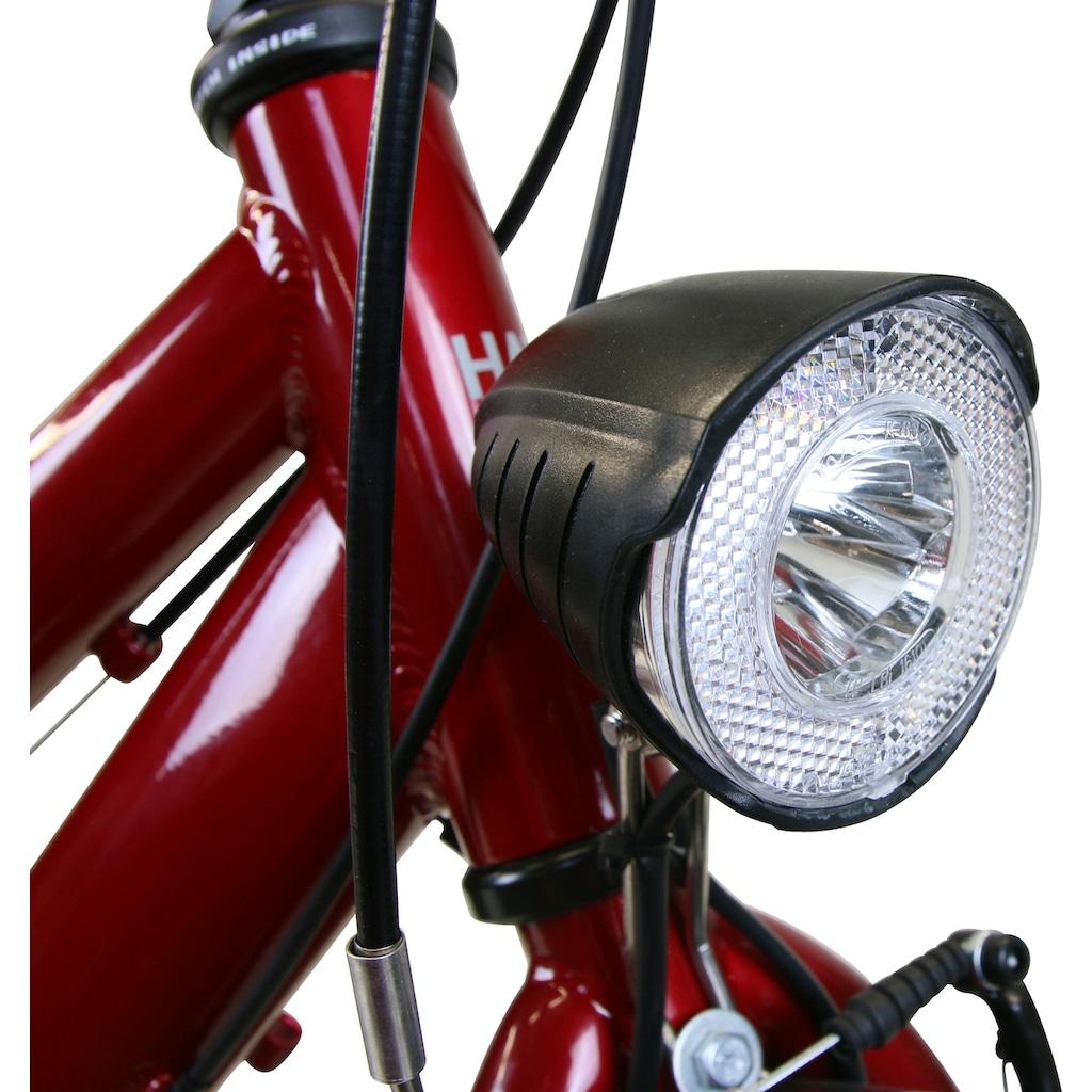 HAWK Bikes Trekkingrad »HAWK Citytrek Easy Red Lady«, 7 Gang, Shimano, Tourney Schaltwerk
