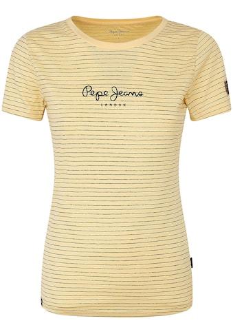 Pepe Jeans Print-Shirt »MAHSA«, in Querstreifen-Optik mit Marken-Logo-Aufdruck im... kaufen