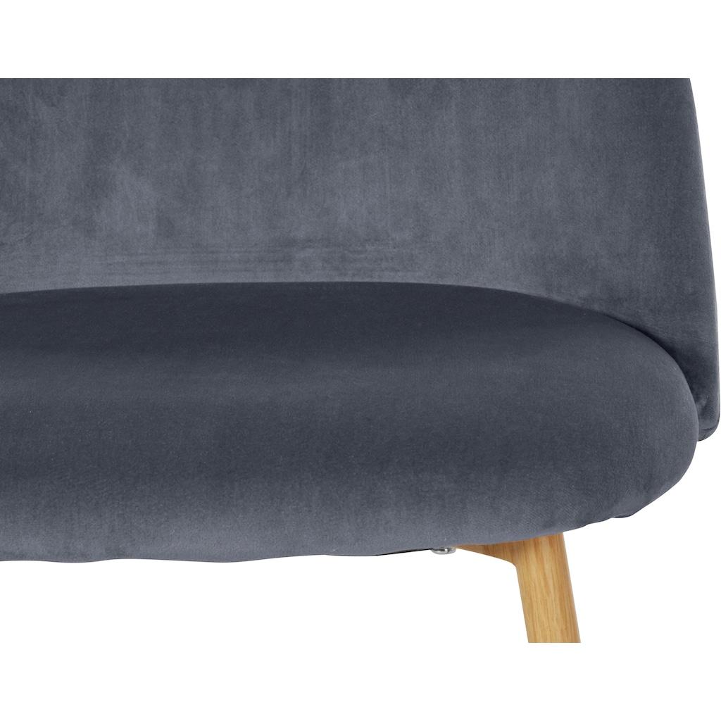 Leonique Esszimmerstuhl »Aschly«, mit einem weichen, pflegeleichten Samtvelours Bezug, Gestell aus Metall, Sitzhöhe 47,5 cm
