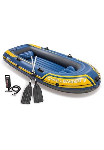 Intex Schlauchboot »Challenger 3«, (Set, mit 2 Paddeln und Luftpumpe) kaufen