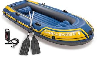 intex schlauchboot challenger 3 set mit 2 paddeln und. Black Bedroom Furniture Sets. Home Design Ideas