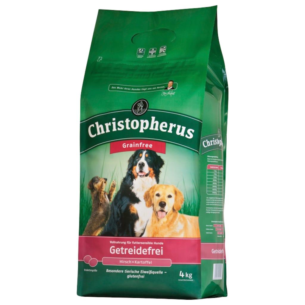 Christopherus Trockenfutter »Getreidefrei Hirsch und Kartoffel«, (2), 2 Beutel á 4 kg