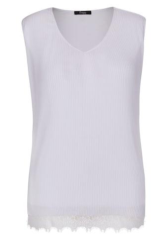 FRAPP Zarte Plissee - Bluse mit Spitze kaufen