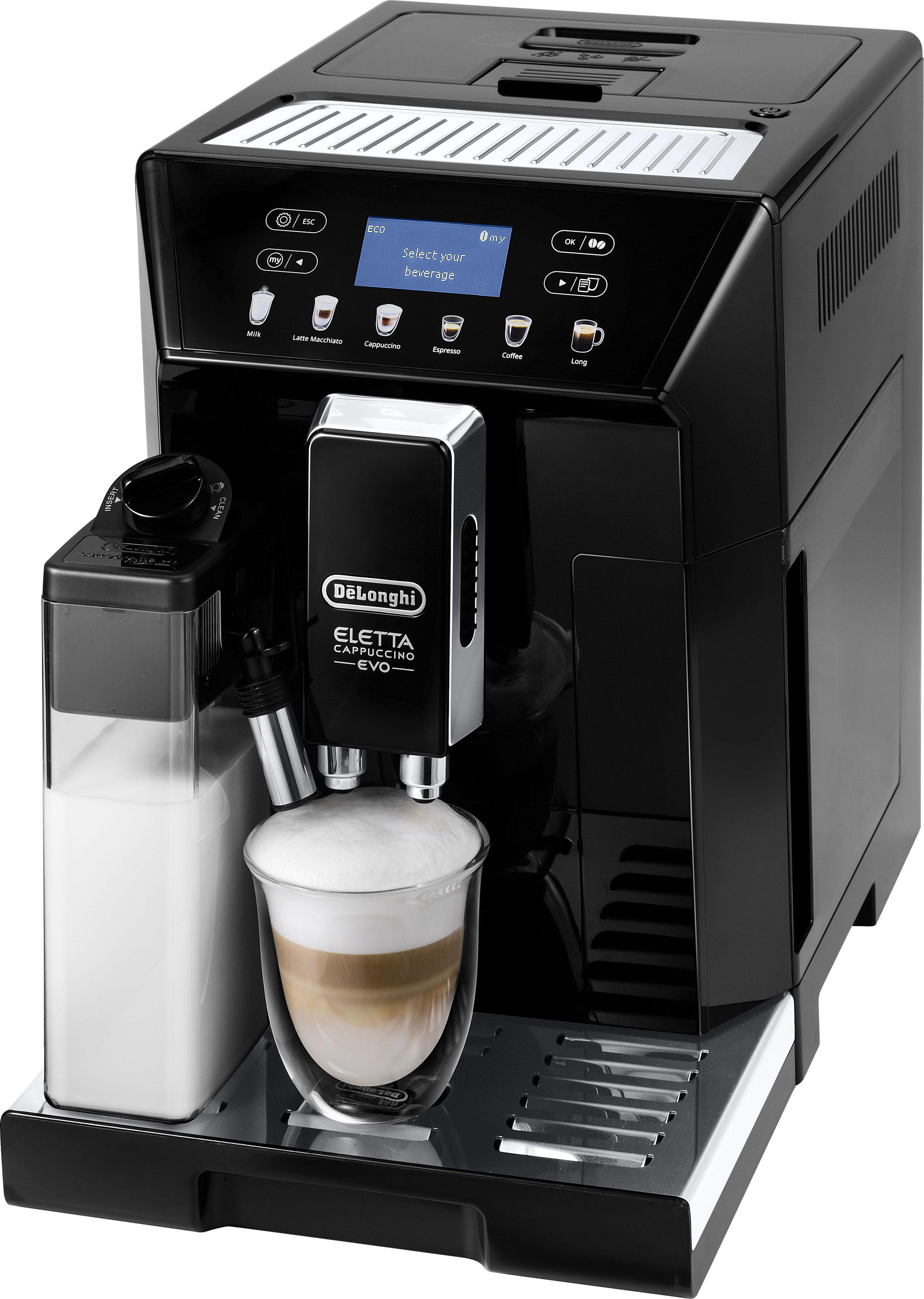 De'Longhi Kaffeevollautomat ECAM 46.860.B Eletta Evo, schwarz, 2l Tank