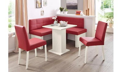 SCHÖSSWENDER Eckbankgruppe »Anna 2«, (Set, 4 tlg.), mit 2 Stühlen mit massiven Gestell kaufen