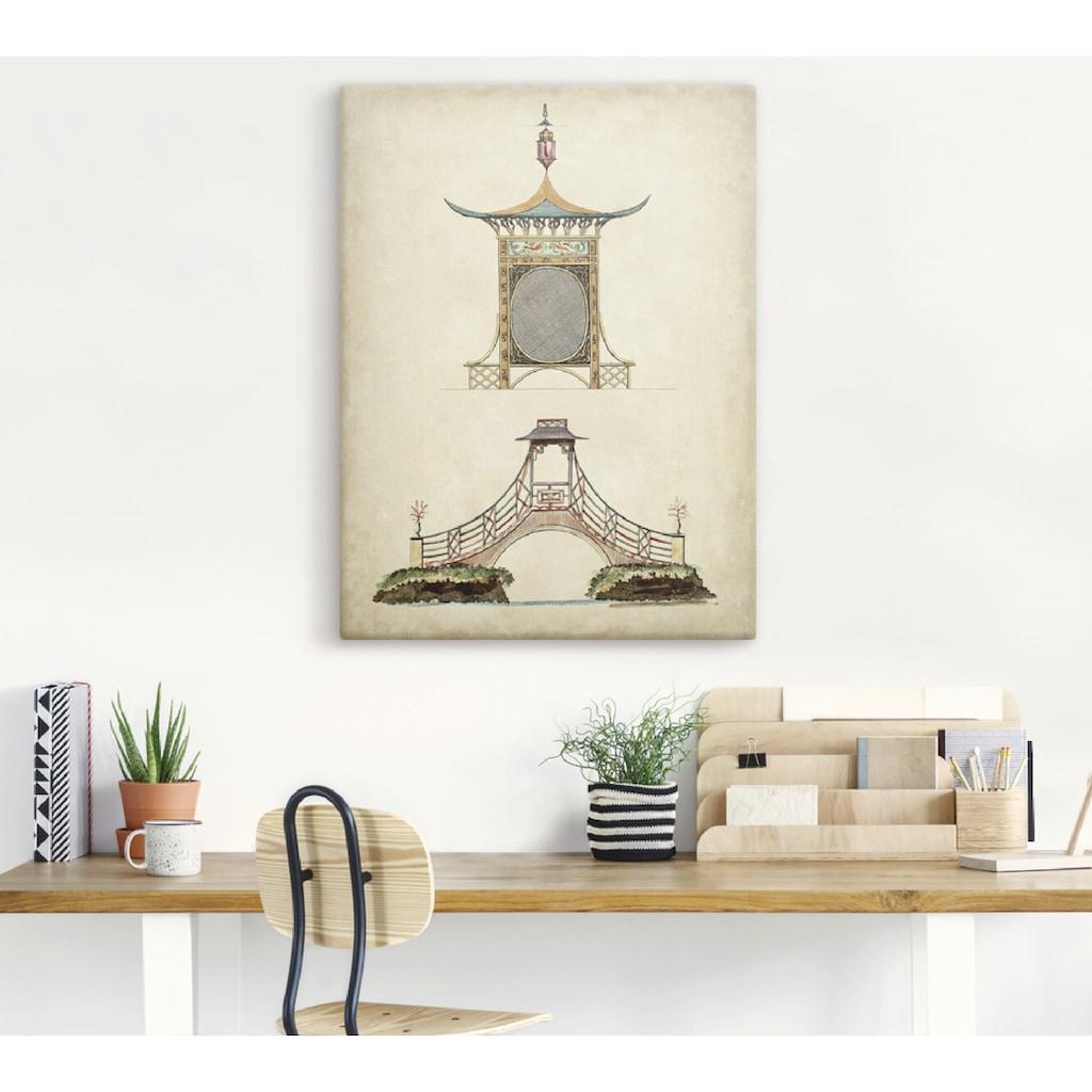 Artland Wandbild »Gartentore III«, Architektonische Elemente, (1 St.), in vielen Größen & Produktarten - Alubild / Outdoorbild für den Außenbereich, Leinwandbild, Poster, Wandaufkleber / Wandtattoo auch für Badezimmer geeignet