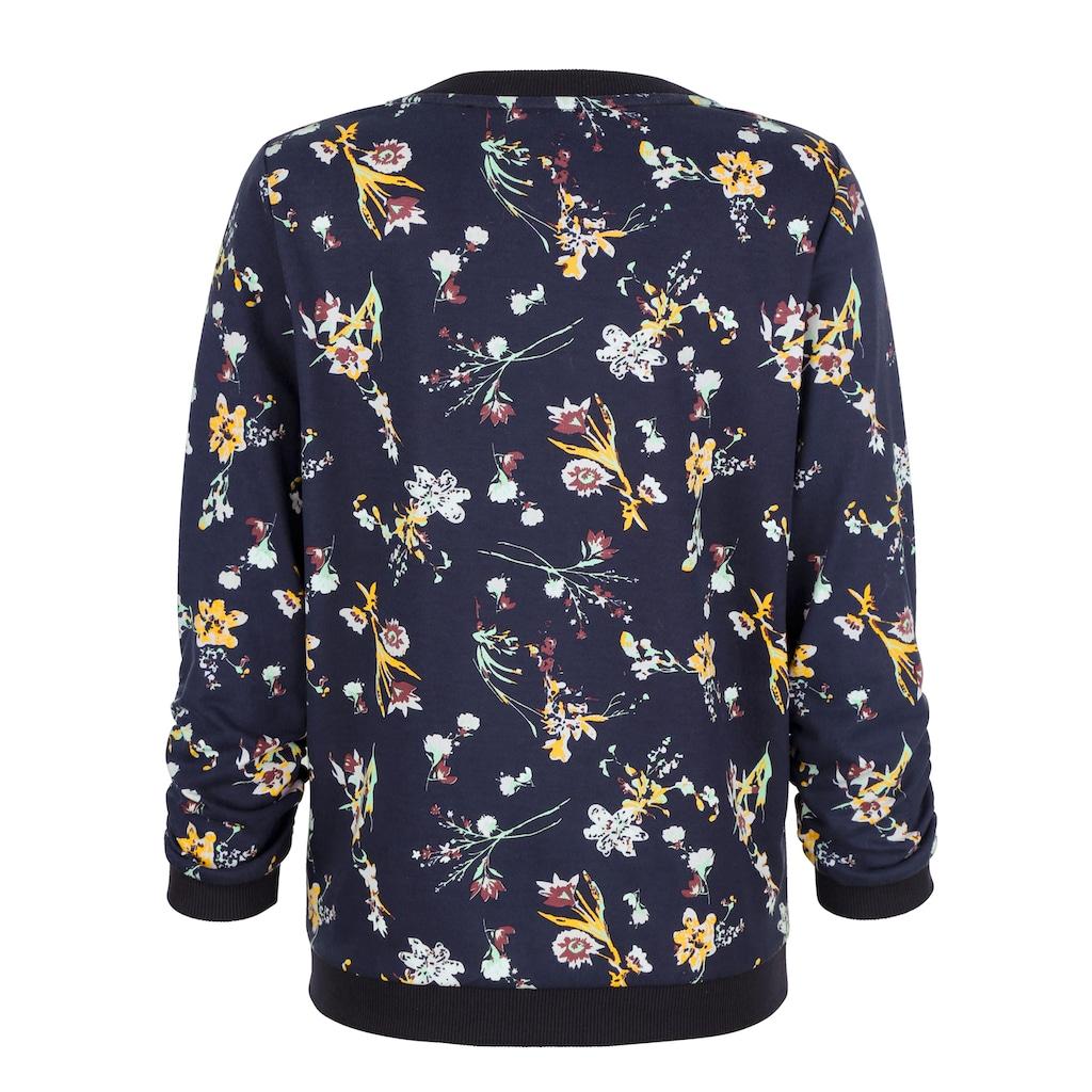 Dress In Sweatshirt, mit schönem Blumendruck