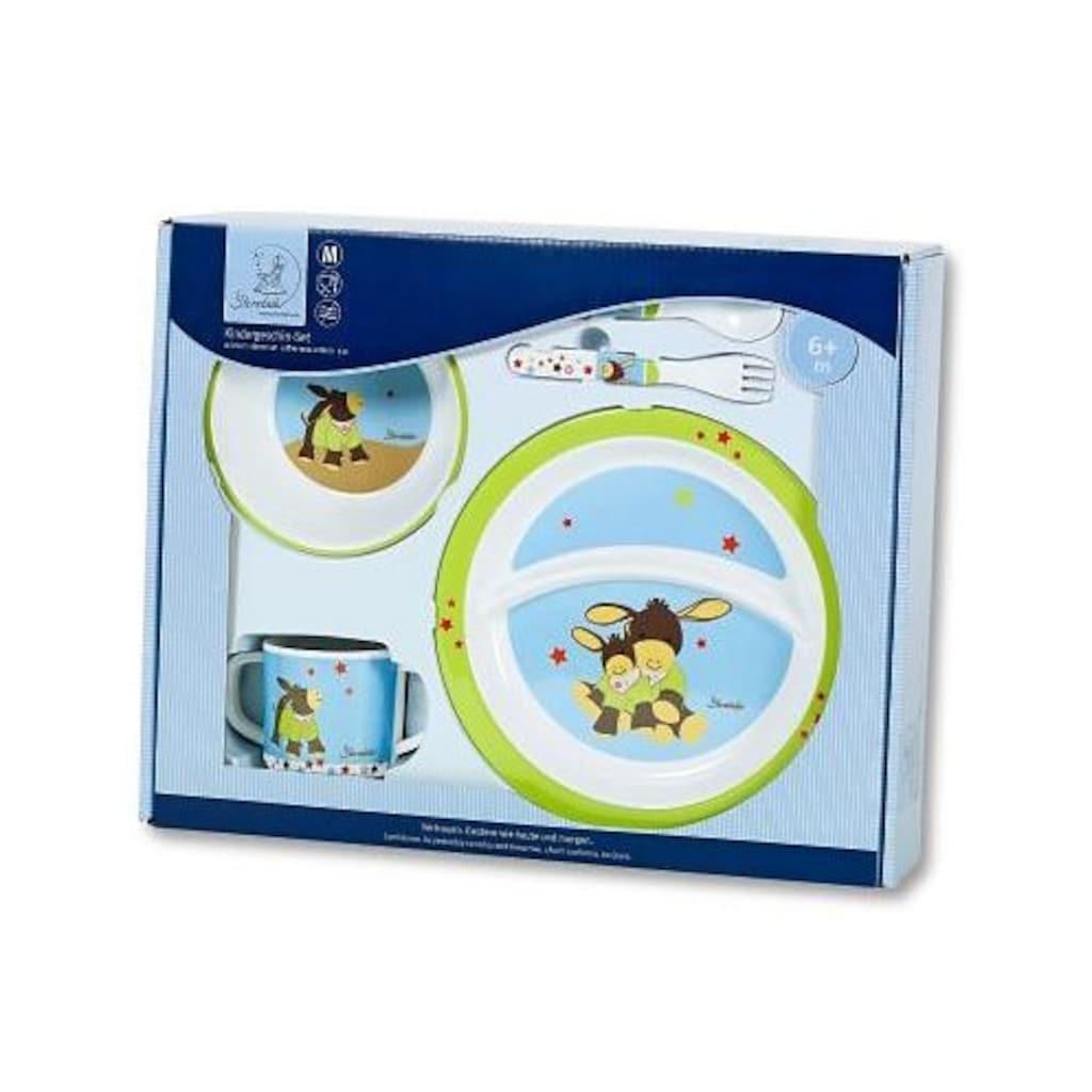 Sterntaler® Kindergeschirr-Set »Emmi, braun«, (5 tlg.), mit Löffel und Gabel