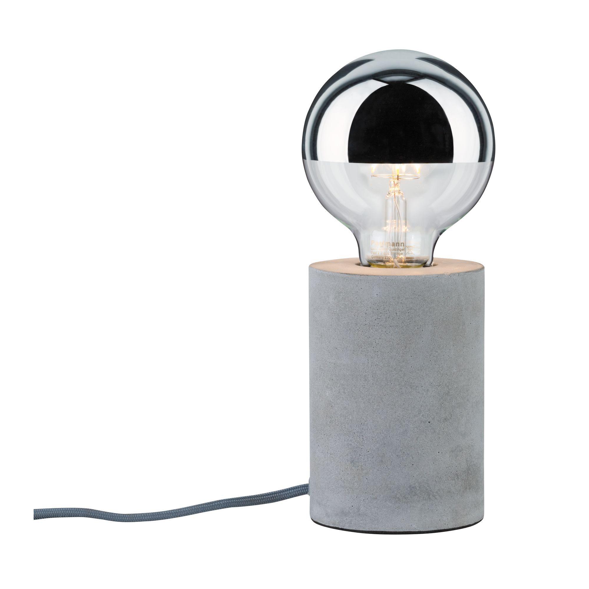 Paulmann LED Tischleuchte Neordic Mik Beton, E27, 1 St.