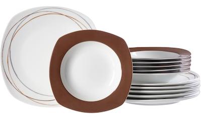 Ritzenhoff & Breker Tafelservice »Alina Circle«, (Set, 12 tlg.), mit Linien-Dekor kaufen