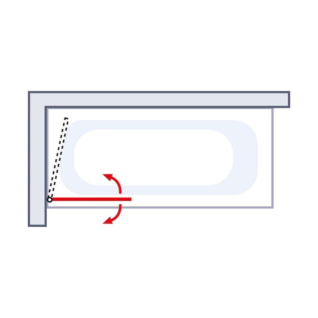 Schulte Badewannenaufsatz »Wega«, Breite: 80 cm, mit Sichtschutz