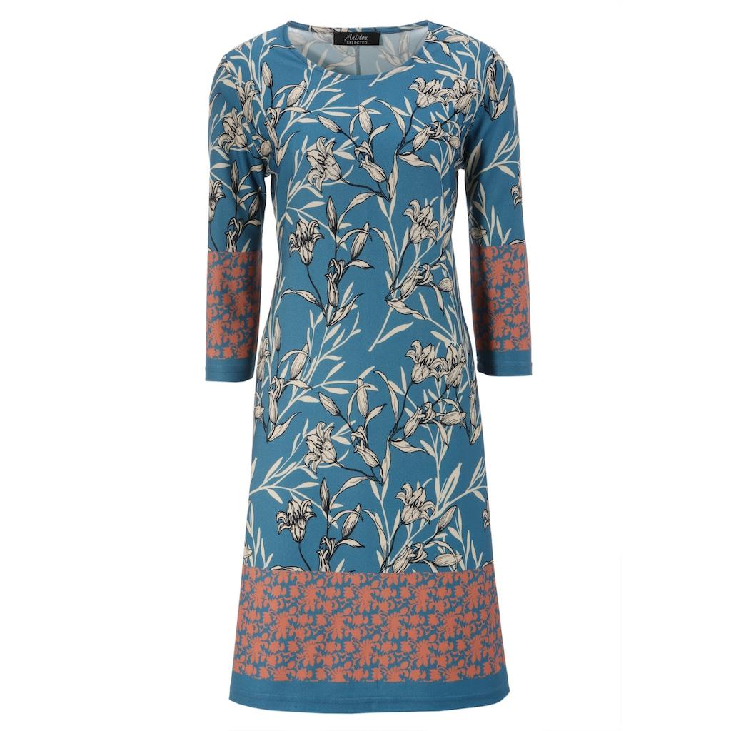 Aniston SELECTED Jerseykleid, mit farblich abgesetzten Bordüren