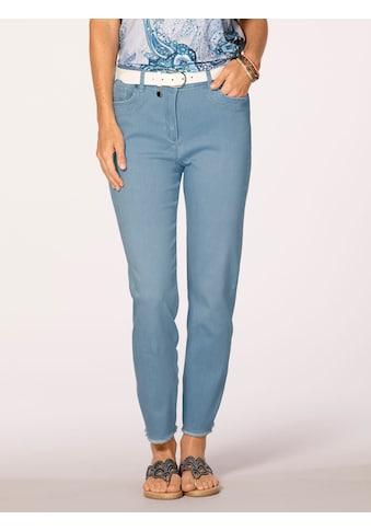 Mona Jeans mit modischer Fransen-Zier kaufen