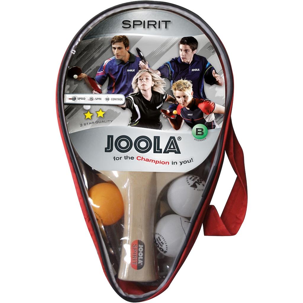 Joola Tischtennisschläger »Carat / Spirit«, (Set, 6 tlg., mit Bällen-mit Schlägerhülle-mit Tasche)
