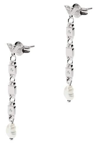 Emporio Armani Paar Ohrstecker »ESSENTIAL, EG3473040«, mit echten Perlen und Zirkonia kaufen