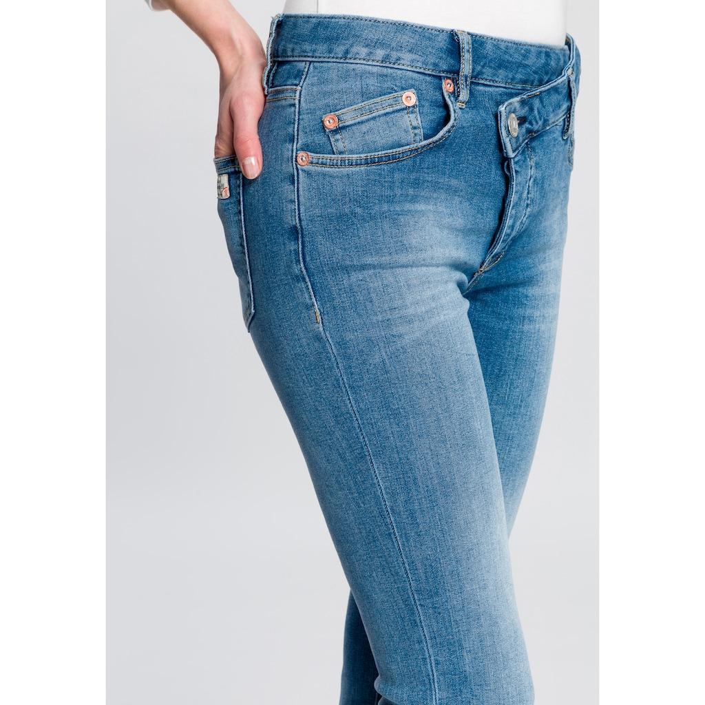 Herrlicher Slim-fit-Jeans »MÄZE SLIM«, im Crossover-Look