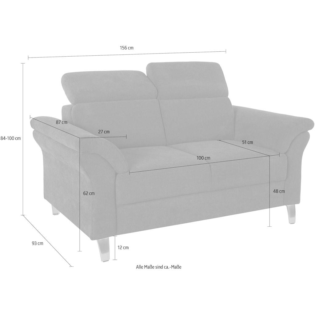 sit&more 2-Sitzer, inklusive Federkern und Kopfteilverstellung
