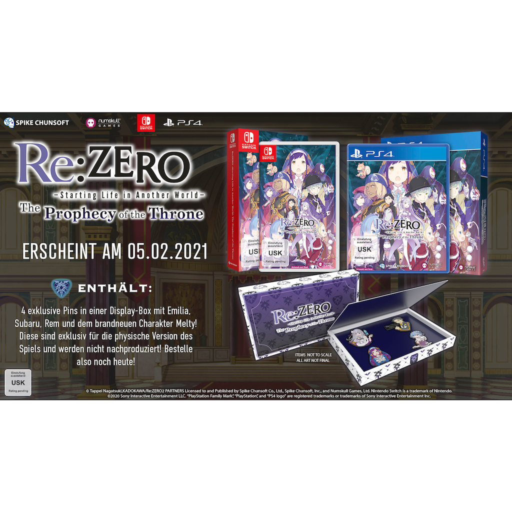 Spiel »RE:Zero - The Prophecy of the Throne«, Nintendo Switch