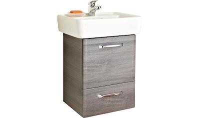 PELIPAL Waschtisch »Alika«, Breite 55 cm, Keramikbecken, Metallgriffe, Türdämpfer kaufen