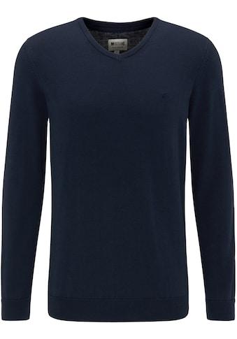 MUSTANG V - Ausschnitt - Pullover »Basic V - Neck Jumper« kaufen