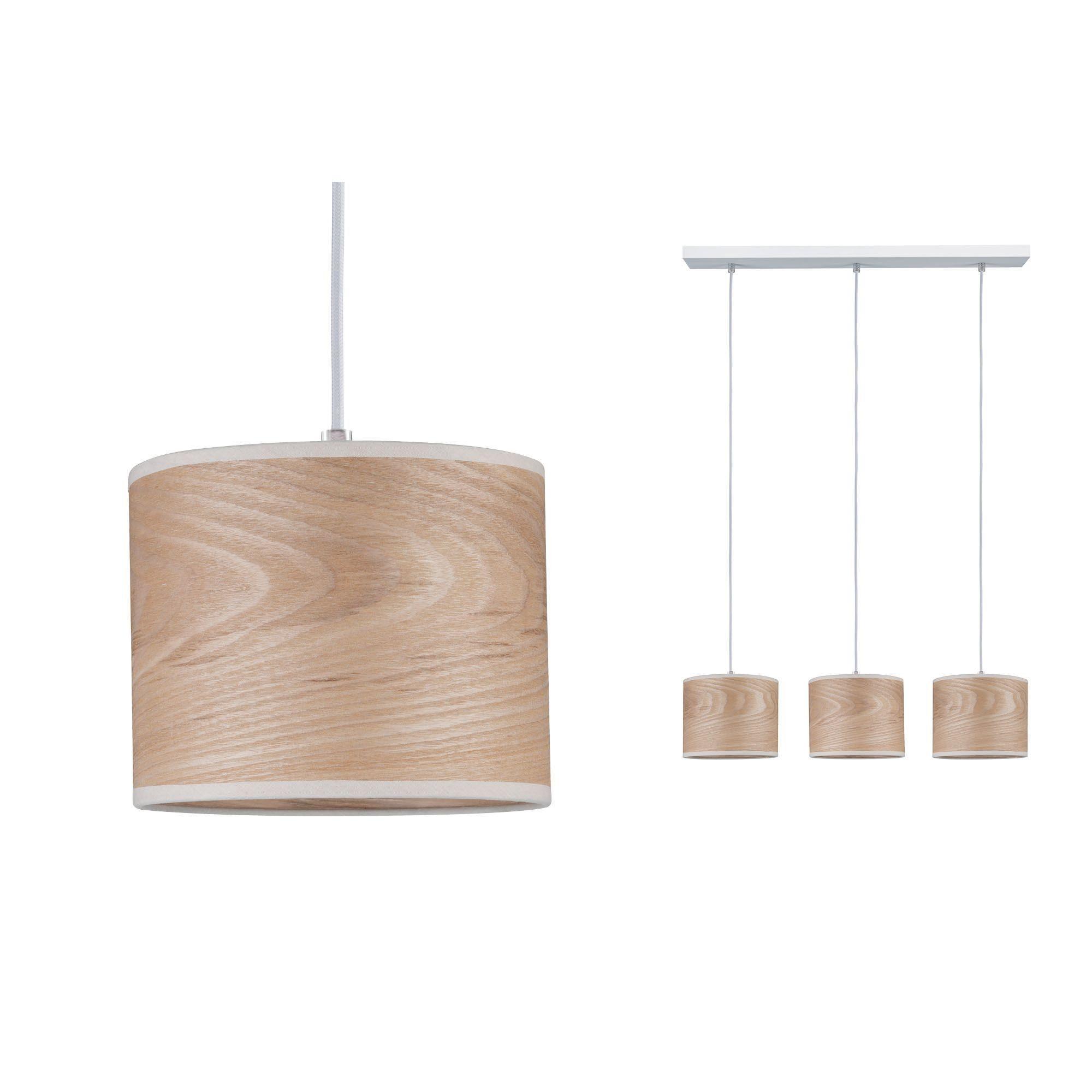 Paulmann LED Pendelleuchte Neordic Neta Weiß/Holz, E27, 1 St.