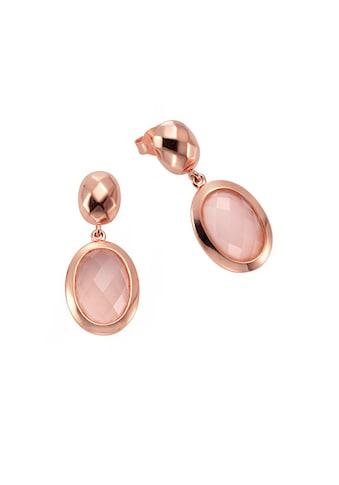 Jamelli Paar Ohrstecker »925/- Sterling Silber Chalcedon rosa«, Ohrstecker kaufen