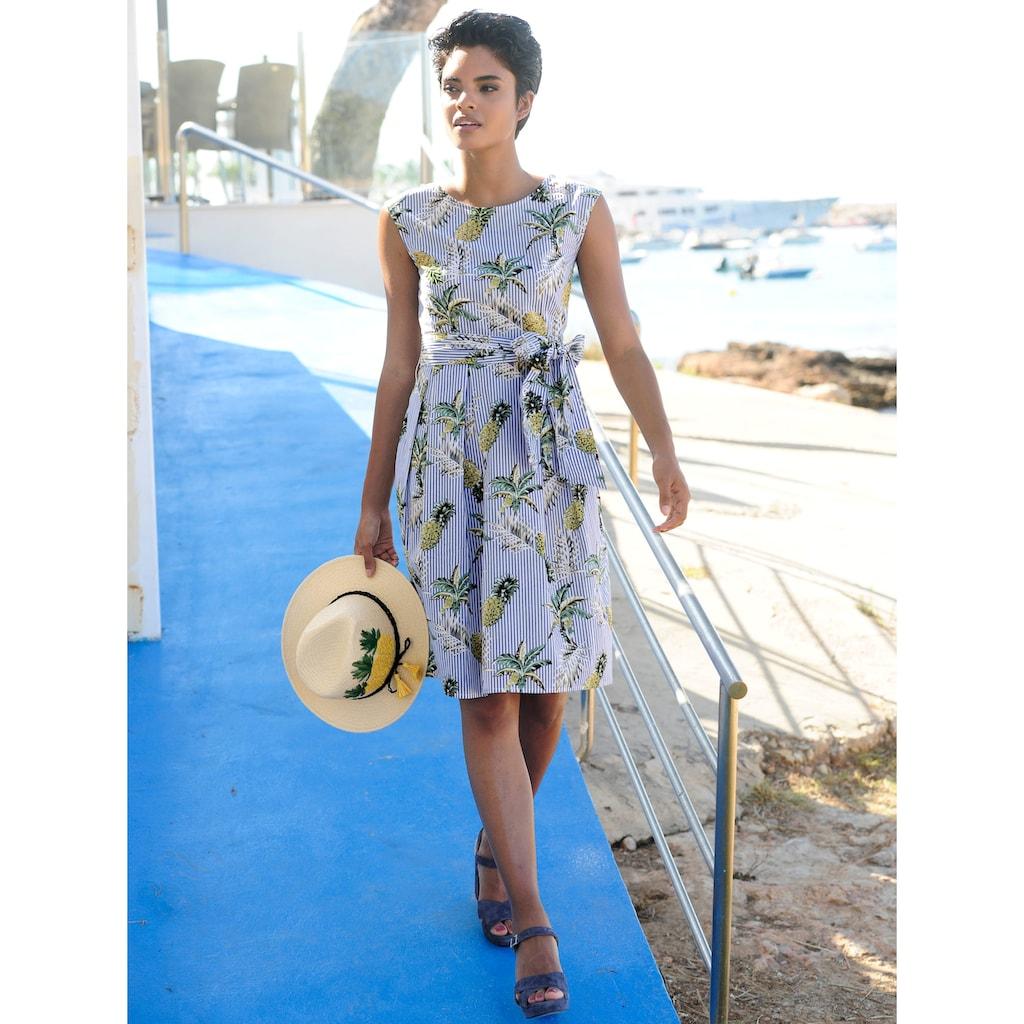 Alba Moda Strandkleid mit Perlen bestickt