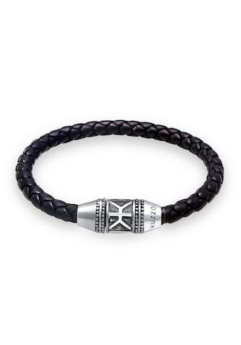 Kuzzoi Armband »Herren Leder Logo Magnet - Verschluß 925 Silber« kaufen