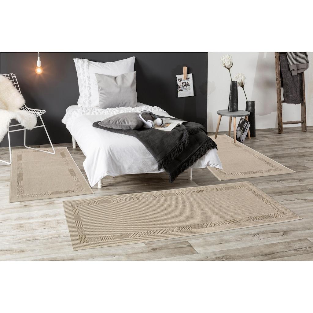 Andiamo Bettumrandung »Montana«, Flachgewebe, Bettvorleger, Läufer-Set für das Schlafzimmer, gewebt