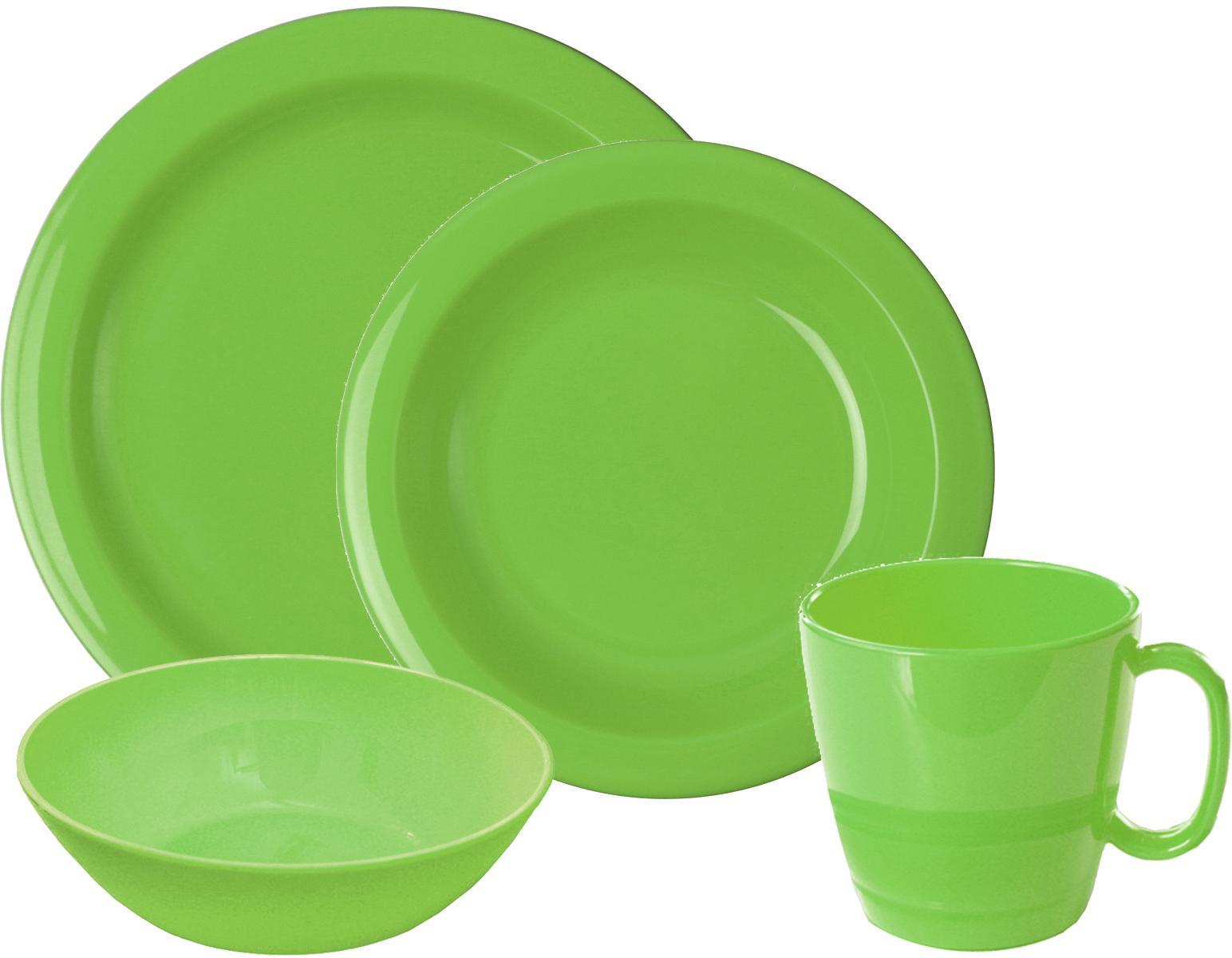 WACA Frühstücks-Geschirrset, (Set, 8 tlg.) grün Frühstücksset Eierbecher Geschirr, Porzellan Tischaccessoires Haushaltswaren Frühstücks-Geschirrset