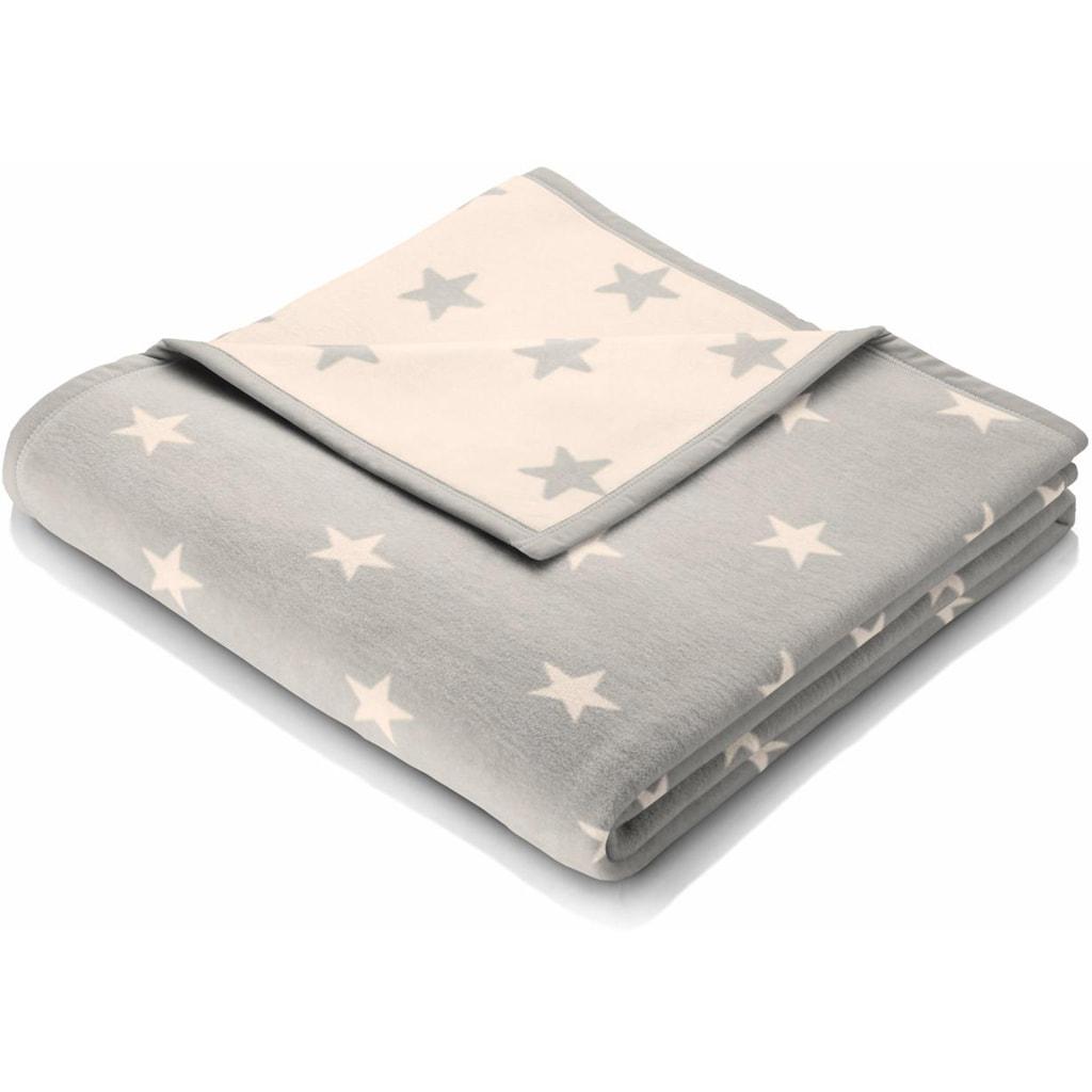 BIEDERLACK Wohndecke »Texas Star«, mit kleinen Sternen
