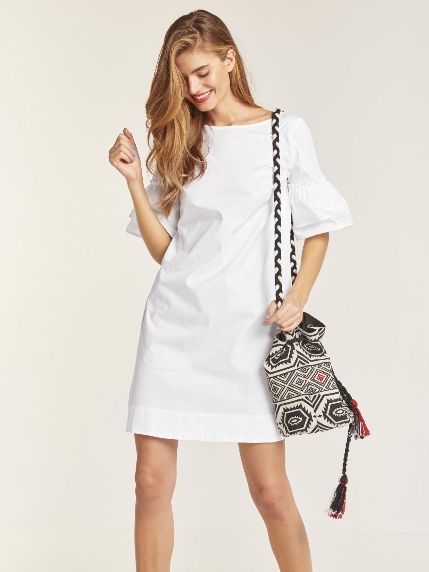 ba437c858b0ce3 heine STYLE Kleid mit Volantärmel online bestellen | BAUR