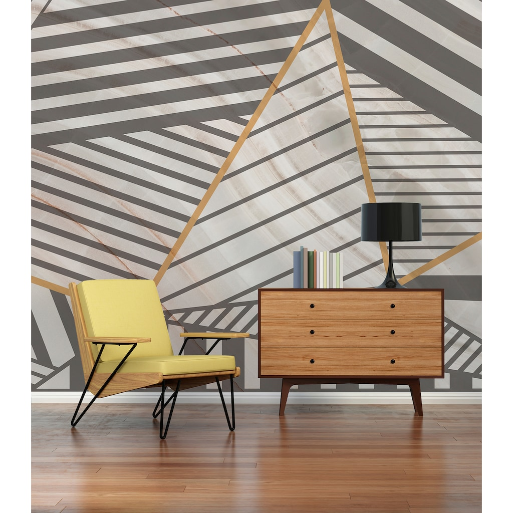 Architects Paper Fototapete »Atelier 47 Stripes Marble 3«, 3D-Optik