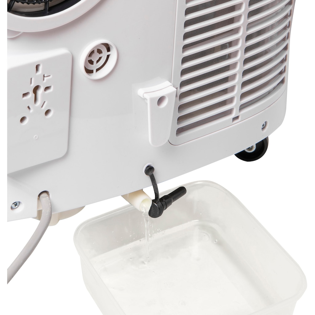 bestron Klimagerät »mobiles Gerät«, für Räume bis 55m², Klimagerät mit App + Sprachsteuerung via WiFi, Touch-Bedienfeld und Fernbedienung, Kühlleistung 4,1 kW mit umweltfreundlichen Kühlmittel,14.000 BTU/h