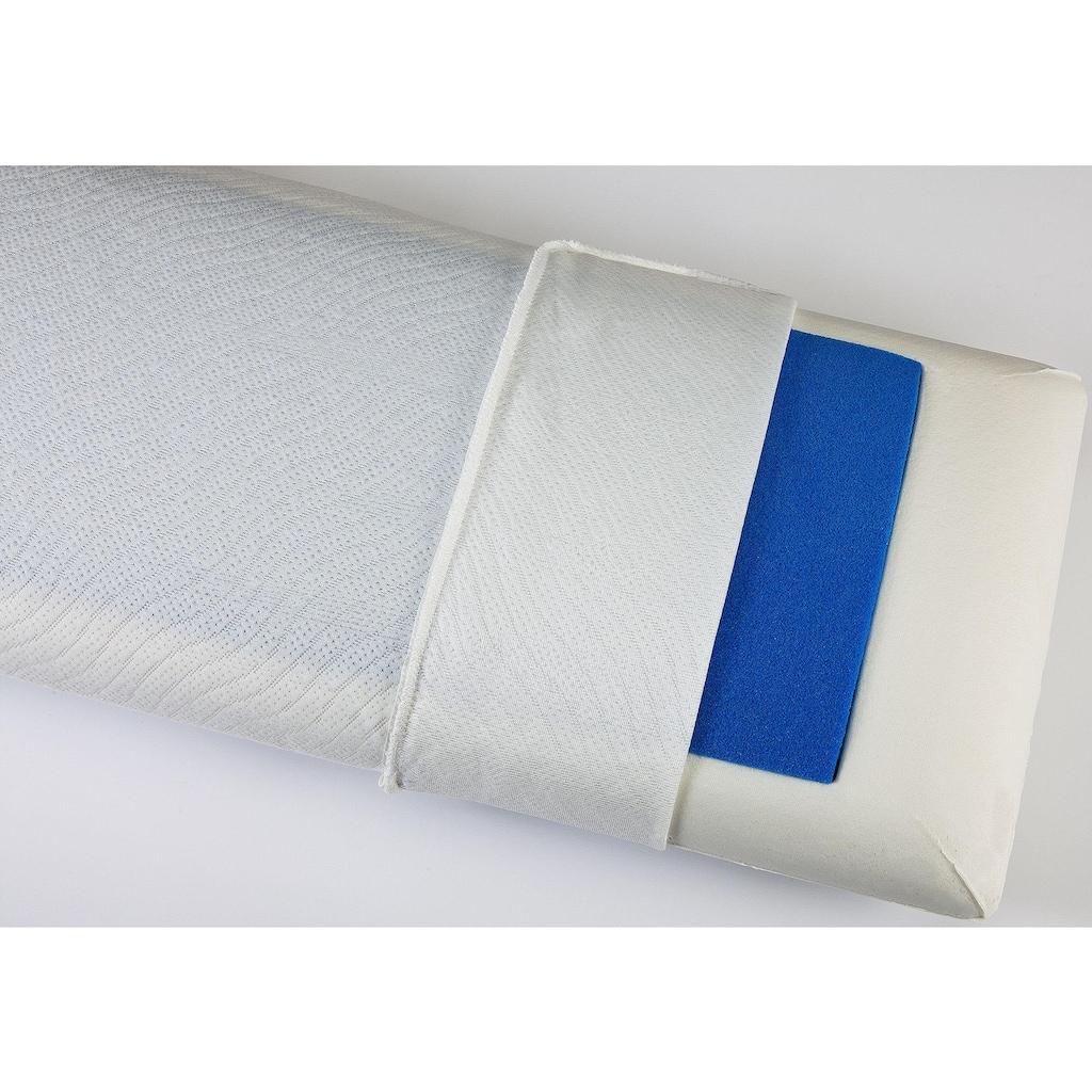 """DI QUATTRO Nackenstützkissen »""""Memory Dream"""" Blue Style«, Füllung: Viscoschaum mit farbiger Viscoeinlage, Bezug: 100% Polyester, (1 St.)"""