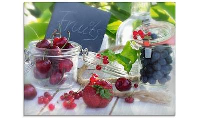 Artland Glasbild »Frischer Früchte Sommer«, Lebensmittel, (1 St.) kaufen