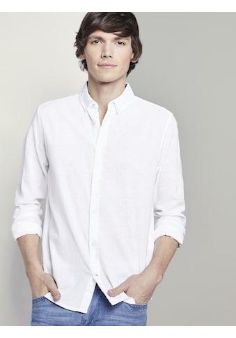 TOM TAILOR Langarmhemd »Hemd aus Leinengemisch« kaufen