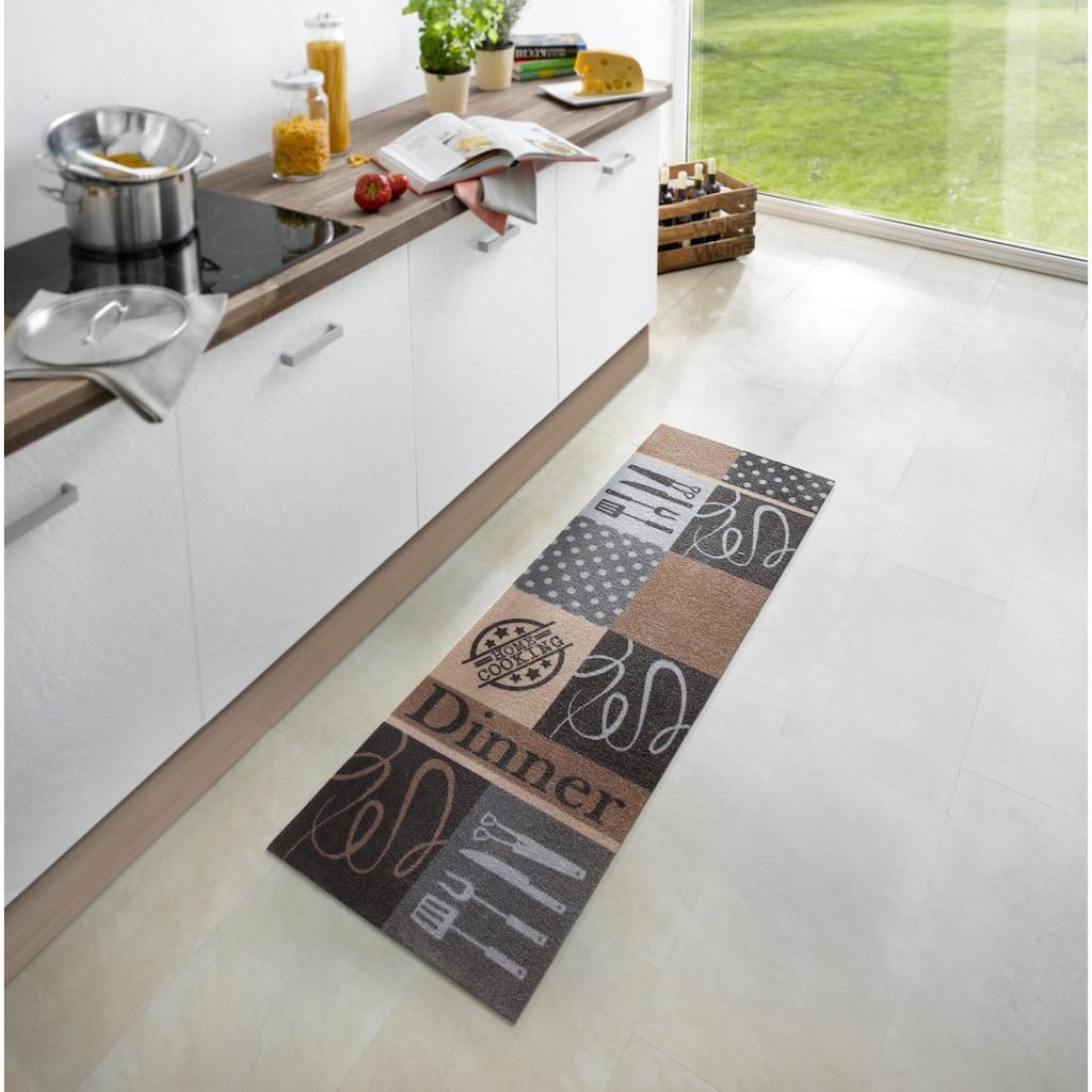 Zala Living Küchenläufer »Dinner«, rechteckig, 5 mm Höhe, waschbar, rutschhemmend